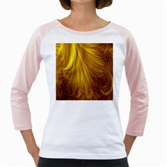 Flower Gold Hair Girly Raglans