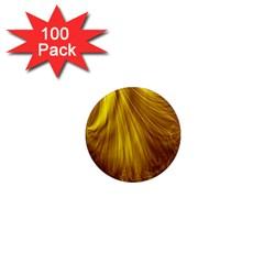 Flower Gold Hair 1  Mini Magnets (100 pack)