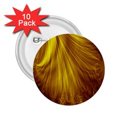 Flower Gold Hair 2.25  Buttons (10 pack)
