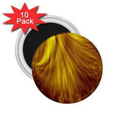 Flower Gold Hair 2.25  Magnets (10 pack)
