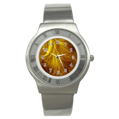 Flower Gold Hair Stainless Steel Watch