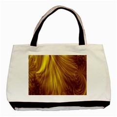 Flower Gold Hair Basic Tote Bag