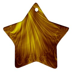 Flower Gold Hair Star Ornament (Two Sides)
