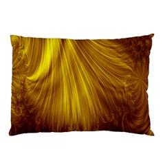 Flower Gold Hair Pillow Case