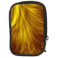 Flower Gold Hair Compact Camera Cases