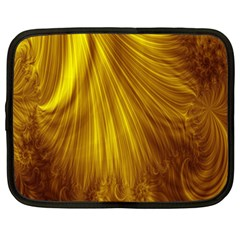 Flower Gold Hair Netbook Case (XXL)
