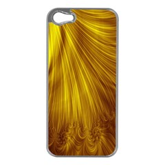 Flower Gold Hair Apple iPhone 5 Case (Silver)