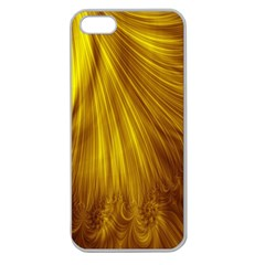 Flower Gold Hair Apple Seamless iPhone 5 Case (Clear)