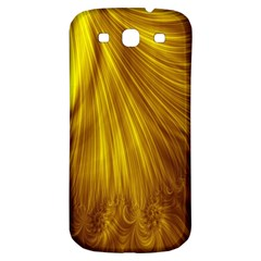 Flower Gold Hair Samsung Galaxy S3 S III Classic Hardshell Back Case