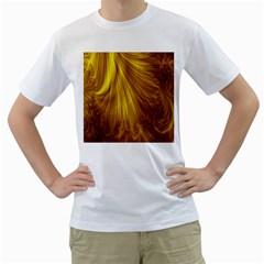 Flower Gold Hair Men s T-Shirt (White)