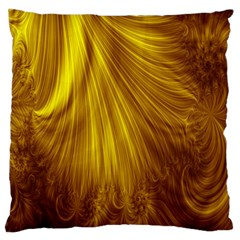 Flower Gold Hair Large Flano Cushion Case (One Side)