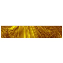 Flower Gold Hair Flano Scarf (Small)