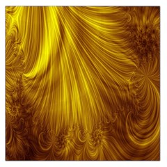 Flower Gold Hair Large Satin Scarf (square)