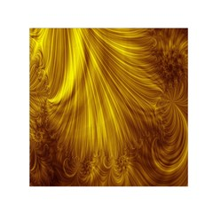 Flower Gold Hair Small Satin Scarf (Square)