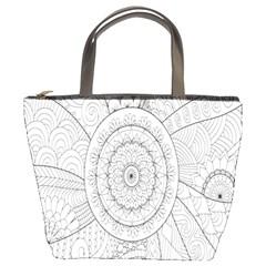 Flower Rose Flowering Sunflower Black Bucket Bags