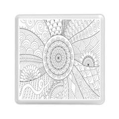 Flower Rose Flowering Sunflower Black Memory Card Reader (Square)