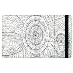 Flower Rose Flowering Sunflower Black Apple iPad 2 Flip Case