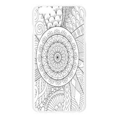 Flower Rose Flowering Sunflower Black Apple Seamless iPhone 6 Plus/6S Plus Case (Transparent)