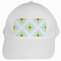 Color Square White Cap