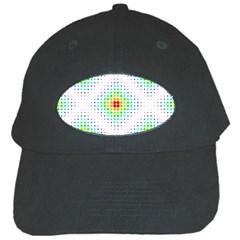 Color Square Black Cap