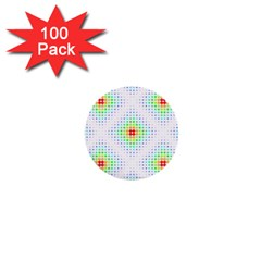 Color Square 1  Mini Buttons (100 pack)