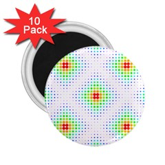 Color Square 2 25  Magnets (10 Pack)