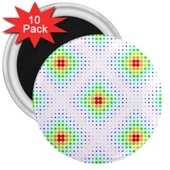 Color Square 3  Magnets (10 pack)