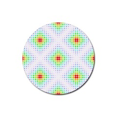Color Square Rubber Round Coaster (4 pack)