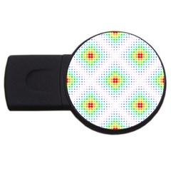 Color Square Usb Flash Drive Round (2 Gb)