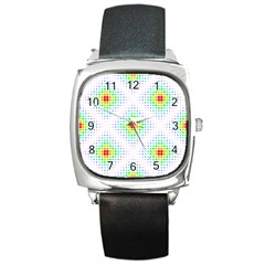 Color Square Square Metal Watch