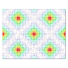 Color Square Rectangular Jigsaw Puzzl