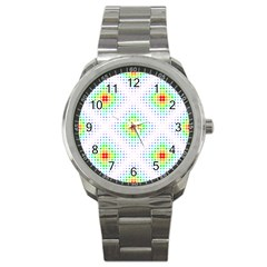 Color Square Sport Metal Watch