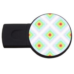 Color Square Usb Flash Drive Round (4 Gb)