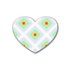 Color Square Rubber Coaster (heart)