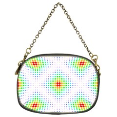 Color Square Chain Purses (two Sides)