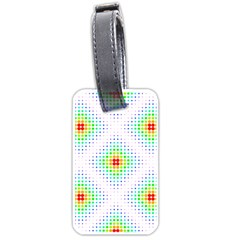 Color Square Luggage Tags (One Side)