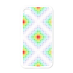 Color Square Apple iPhone 4 Case (White)