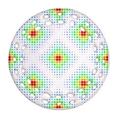 Color Square Ornament (Round Filigree)