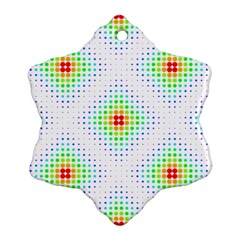 Color Square Ornament (snowflake)