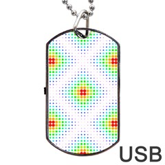 Color Square Dog Tag USB Flash (One Side)
