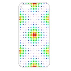 Color Square Apple iPhone 5 Seamless Case (White)
