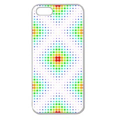 Color Square Apple Seamless iPhone 5 Case (Clear)
