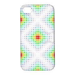 Color Square Apple iPhone 4/4S Hardshell Case with Stand