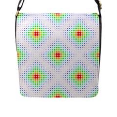 Color Square Flap Messenger Bag (l)