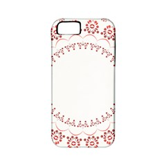 Floral Frame Pink Red Star Leaf Flower Apple iPhone 5 Classic Hardshell Case (PC+Silicone)