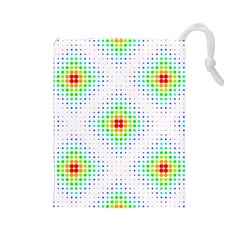 Color Square Drawstring Pouches (Large)