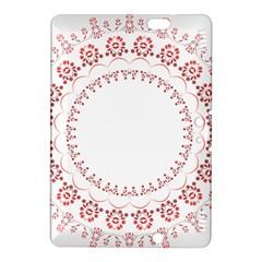 Floral Frame Pink Red Star Leaf Flower Kindle Fire HDX 8.9  Hardshell Case