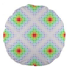 Color Square Large 18  Premium Flano Round Cushions