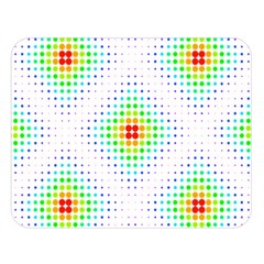 Color Square Double Sided Flano Blanket (large)