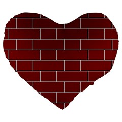 Flemish Bond Large 19  Premium Heart Shape Cushions
